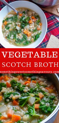 This Vegetable Scotch Broth is full of goodness and is perfect for keeping you warm in the cold Winter months. Serve piping hot with lots of crusty bread or oatcakes. Best Soup Recipes, Chowder Recipes, Vegetarian Recipes, Dinner Recipes, Favorite Recipes, Burns Night Recipes, Cauliflower Soup Recipes, Dried Vegetables, Scottish Recipes