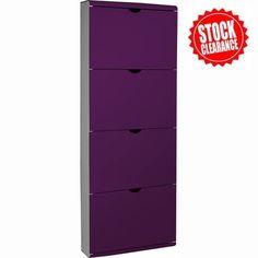 Modern Wenge White Wooden Shoe Cabinet 3608 04