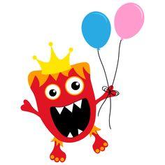 red birthday monster