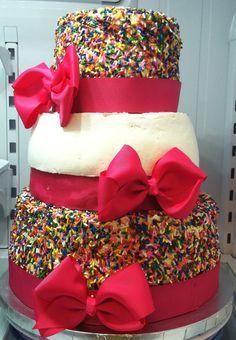 Girly cake. Buttercream and Sprinkles!!