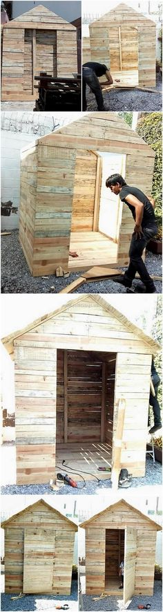 diy pallets kids playhosue