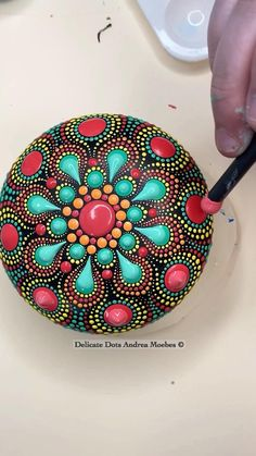Mandala Art Lesson, Mandala Artwork, Mandala Painting, Mandala Painted Rocks, Mandala Rocks, Flower Mandala, Dot Art Painting, Stone Painting, Mosaic Flower Pots