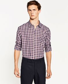 ZARA - MAN - CHECK SHIRT WITH ELBOW PATCHES