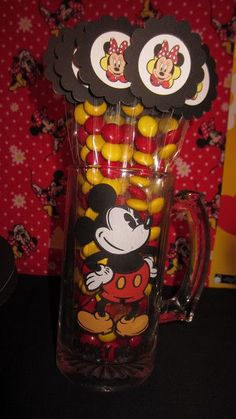 Mickey / Minnie Mouse birthday party favor: