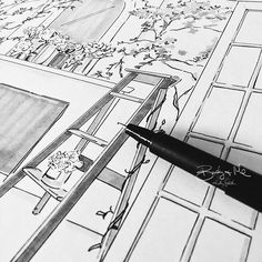 Drawing secret gardens for @ClarinsAus on a Friday afternoon...✍️ Have the…
