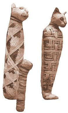 EGYPTIAN PET CAT AND GOD MUMMIES | ANCIENT EGYPT LAND OF THE PHAROAHS, SUN GOD RA HAWKS HEAD TRADEMARK.                            Cat Mummies. Hello... paper mache and cheese cloth.