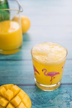 Sparkling Mango Lemonade can be splash with a hint of vodka. Now that's a beverage!