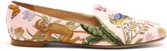 Get Ready for Summer Look! #ad AQUAZZURA Aquazzura for de Gournay embroidered loafers