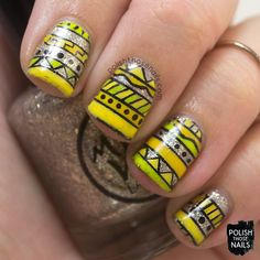 Sio-Low Tribal // Polish Those Nails // nail art -decals - midwest lacquer - indie polish