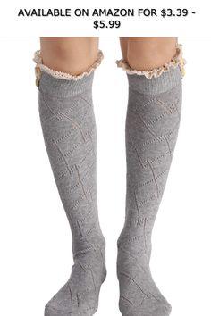 863036bd984 Avidlove Women Leg Warmers Thigh High Socks Classic Triple Stripes Top  Stockings ◇ AVAILABLE ON AMAZON FOR   3.39 -  5.99 ◇ Brand  Avidlove