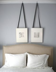 Apartment Therapy - bedrooms - Benjamin Moore - Silver Dollar - Crate & Barrel Colette Bed, silver gray walls, silver gray paint, silver gra...
