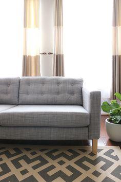 Tufted Ikea Karlstad Sofa Cushions