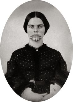 I Will Survive: The Story of Olive Oatman - Her family was massacred by the Yavapai, and Olive was captured, enslaved, traded, and tatooed but managed to survive and eventually was returned to White society.  Read her remarkable story of survival in my blog today. #wildwest #history https://stargazermercantile.com/will-survive-story-olive-oatman/