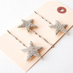 Sparkly hair clips -