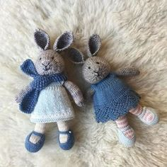 And then there were two... made to meet the wishes of my own two. ☺ Best pattern by far! #littlecottonrabbits