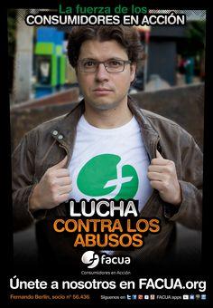 Fernando Berlín, socio de FACUA nº 56.436, llama a los consumidores a la lucha contra los abusos