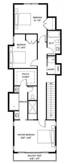 Planos de casas de 6 18 planos casas pinterest for Distribucion casa alargada