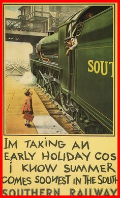 Southern Railway Train Vintage Travel Advertising METAL Poster Wall Plaque Sign