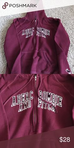 Abercrombie & Fitch Sweatshirt Abercrombie & Fitch Sweatshirt in great condition.  Size Large. Color Maroon Abercrombie & Fitch Tops Sweatshirts & Hoodies