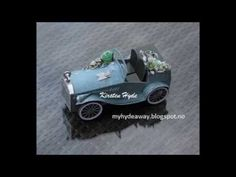 My Craft and Garden Tales: A different chabby chic/vintage wedding car(d) - with rubber band engine!