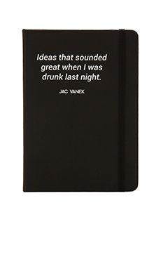 Drunk Ideas Notebook