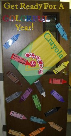 Back to School Crayon Welcome Bulletin Board Idea