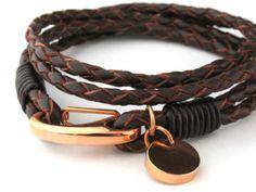 #Mens leather bracelet
