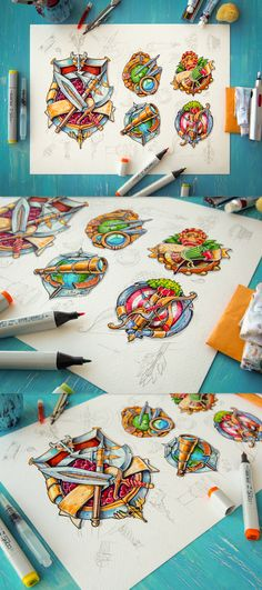 Beautiful game icons by Mike| Creative Mints #sketch