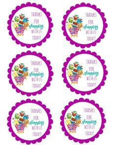 shopkins thank you labels via Mandy's Party Printables Free Shopkins, Shopkins Bday, 9th Birthday Parties, 7th Birthday, Birthday Ideas, Free Birthday, Party Printables, Easter Printables, Elsa