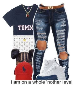 """MOOD"" by fashionkilla-lex ❤ liked on Polyvore featuring MCM, Polo Ralph Lauren and NIKE"