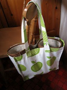 how to sew a tote bag using oilcloth