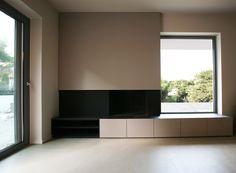 Modern Fireplace - black and beige - elpidaroussou