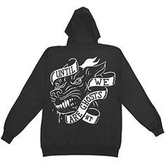 Until We Are Ghosts Men's Wolf Hooded Sweatshirt Black - http://bandshirts.org/product/until-we-are-ghosts-mens-wolf-hooded-sweatshirt-black/