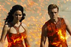 hunger games girl on fire - chariot ride