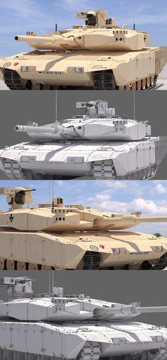 Leopard 2 MBT Revolution(Desert Tone) #3Dmodel #3Dartist #Tank #Collection #3Dsmax #Vray