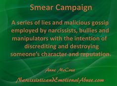 The Smear Campaign – Narcissistic and Emotional Abuse