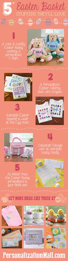 Easter Basket Stuffer ideas your kids will love - these are adorable and this site has TONS of other great gift ideas! They have the best Easter Baskets, too! #Easter #EasterBasket #Bunny