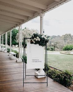 "983 Likes, 18 Comments - Ella Zampatti (@thewhitefiles) on Instagram: ""When the welcome sign is this pretty - you know it's going to be an amazing wedding @biancavirtue…"""