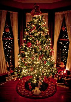 Magical Christmas Tree - this evokes that special feeling we would get when we were kids and were privileged to see and feel the magic of such a sight!