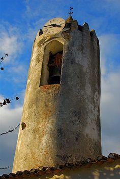 Moorish Tower (XI century), S. João da Ribeira, Rio Maior, Portugal.