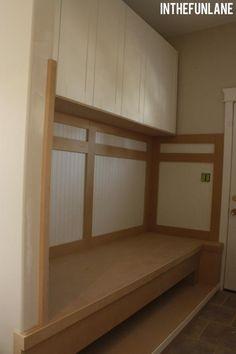 closet turned into small mudroom