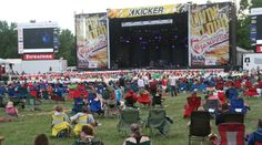 """Fans gather in the Tuttle Creek State Park """"bowl"""" to watch the KICKER Country Stampede."""