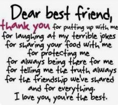 Dear Best Friend, Best Friends Funny, Birthday Quotes For Best Friend, Best Friend Quotes, Bff Quotes, Funny Quotes, Cousin Quotes, Today Quotes, Daily Quotes