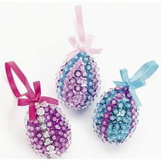 Sequin Egg Ornament Craft Kit #easter #paas