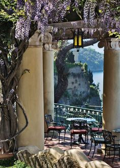 Italy - Sorrento - This was the view from the terrace at our hotel.  Lunch in the afternoon, drinks in the evening to watch the sunset - magical !!!!!
