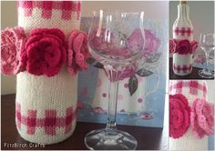 Floral Wine Cosy - Great gift idea with free pattern