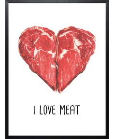 Hungry Heart als Premium Poster Framed Prints Online, Framed Art Prints, Vulgar Display Of Power, Protein Shop, Meat Art, Meat Store, Hungry Hearts, Poster Online, Farm Art