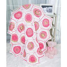 Pinwheel Motif Blanket - Wrap your little one in this delicious blanket of hexagons.