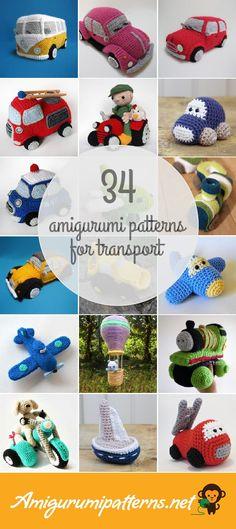 34 Transport Amigurumi Patterns