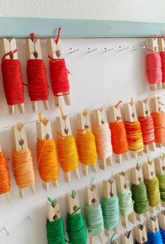 This DIY embroidery floss organizer would look great in any craft room.